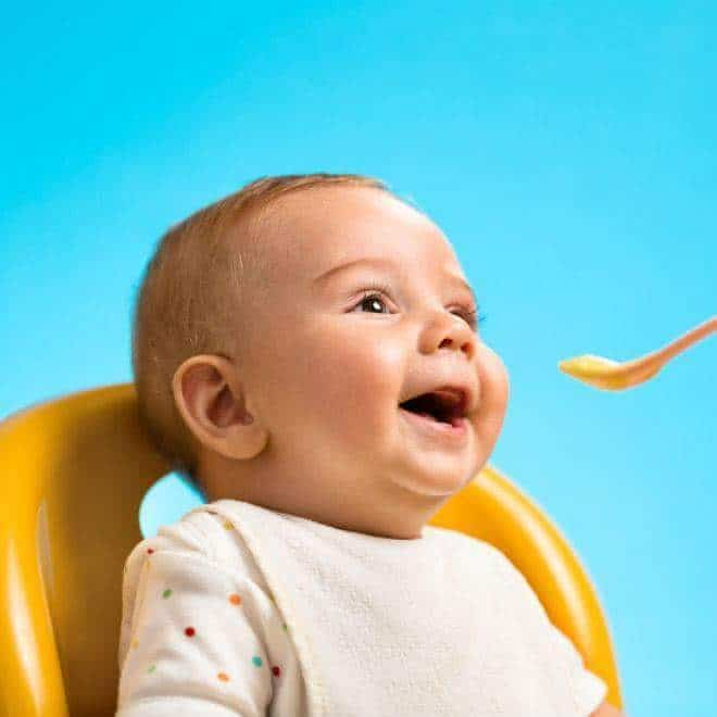 جدول غذاء الرضيع بالشهر السادس