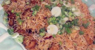 الأرز المقلي مع الجمبري